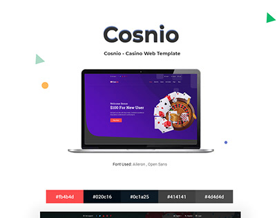 Cosnio - Casino Web Template