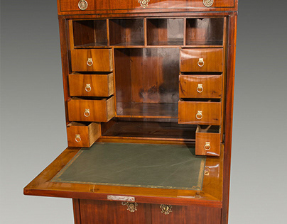 Restoration antique, mahogany, secretary furniture