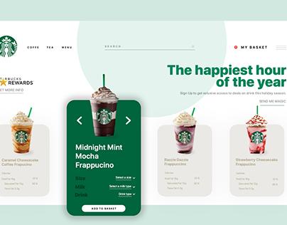 Starbucks Web Page / UI Design