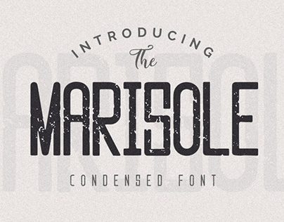 MARISOLE - FREE VINTAGE TEXTURED FONT