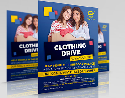 Homeless Clothing Drive Flyer Template