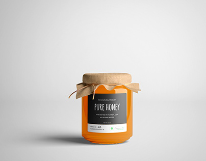 Honey jar Design for Organic by Default