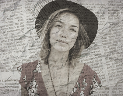 Newspaper photo effect