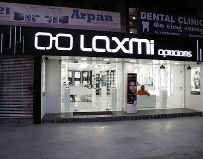Interior works for our client- Laxmi opticals
