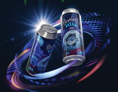BLUEBERRY HILL. Label design craft beer