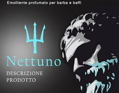 """Progettazione grafica etichetta profumo """"Nettuno"""""""