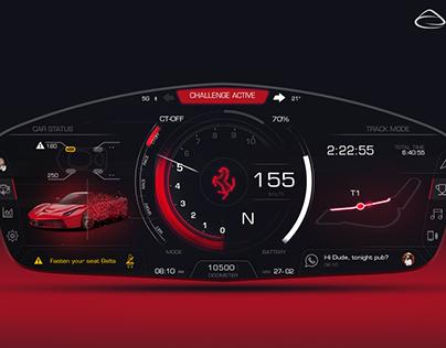 Personal Concept for a new Ferrari HMI