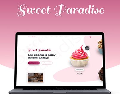 Sweet Paradise cake shop (web-design)