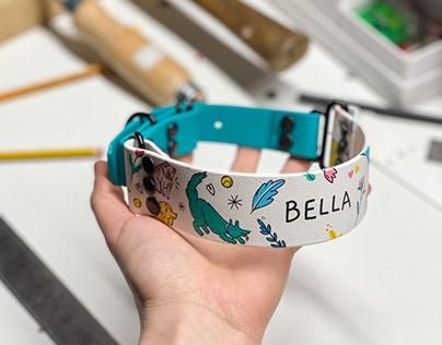 Dog collar custom illustrations