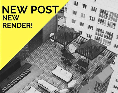 Rooftop Bar Design & 3d modeling