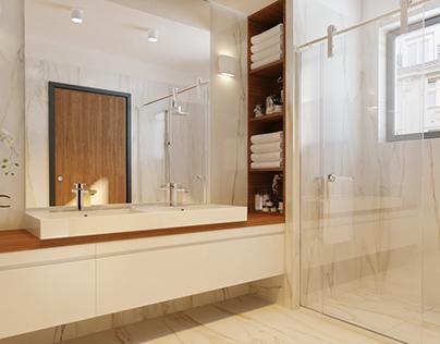 Calacatta Gold Bathroom
