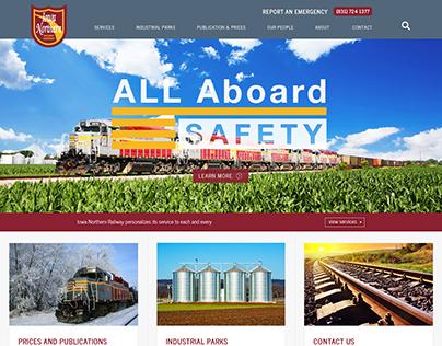 Custom Web Design: Railway Company