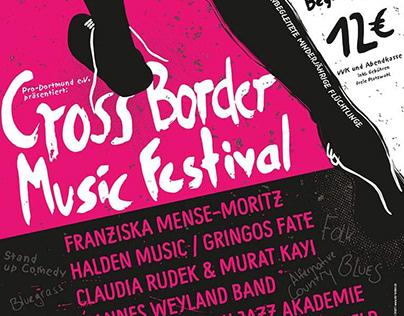 Illustration Poster Cross Border Music Festival