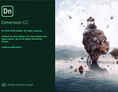 Splash Screen for Adobe Dimension 2.0