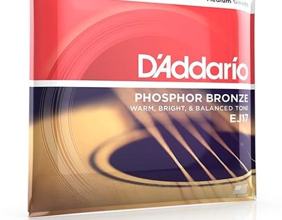 Cordes de guitare phosphore bronze D'Addario