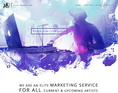 Music Marketing - Website Design Concept