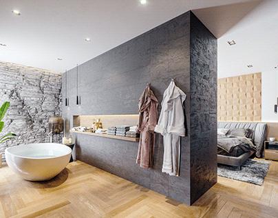 AMR House Master Bedroom Design
