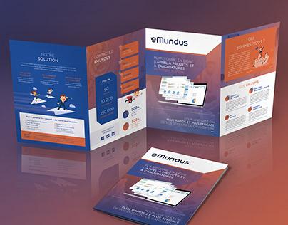 Emundus: print leaflet design
