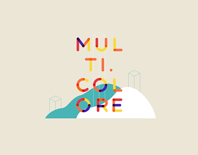 Multicolore - animated typeface