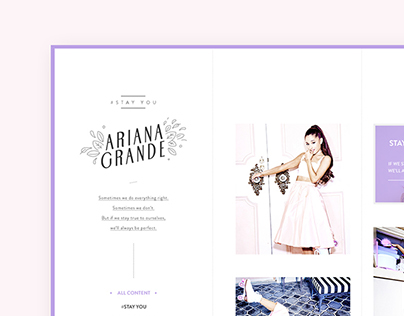 #Stay You | Ariana Grande's Tumblr Site