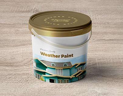 Free Paint Bucket Mockup PSD