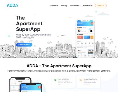 ADDA - Website Revamp