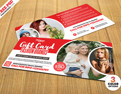 Fashion Store Gift Card PSD