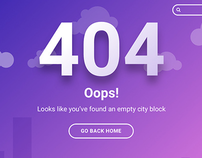 Simple 404 page