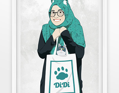 Didi Portrait Vector Illustration