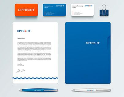 Логотип и фирменный стиль компании Артвент