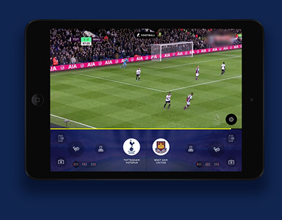 Tablet app concept for live data gathering for football