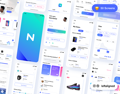 Neura e-commerce iOS UI kit