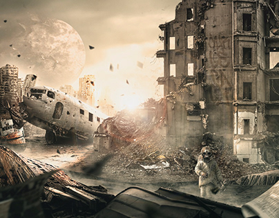 THE END IS NEAR Matte Painting