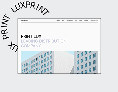 Corporate website redesign - UX / UI