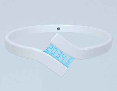 Futuristic LED watch concept