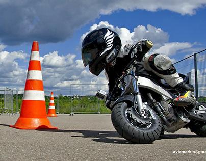 Motorbike drifting training