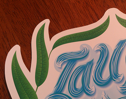 Adhesive Sticker Lettering Illustration Design