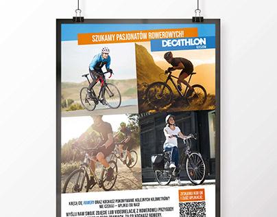 Plakat rekrutacyjny dla sklepu sportowego
