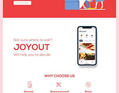 Joyout Landing page design