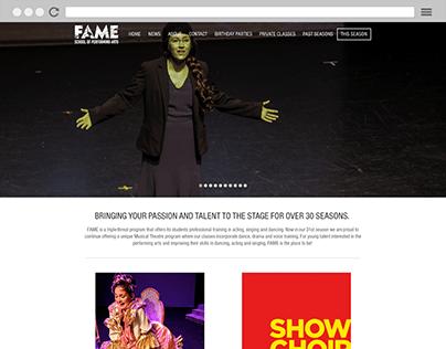 FAME School of Performing Arts - Website