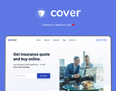 Cover - Insurance Website Template