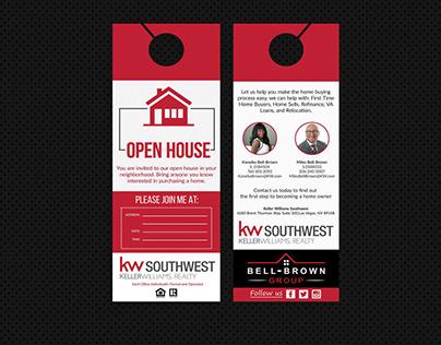 Real Estate Open House Door Hanger