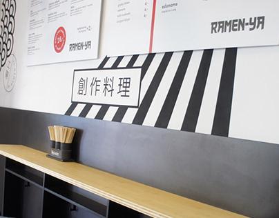 Ramen-ya ramen bar. Interior project.