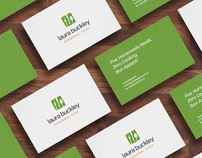Branding, stationery and website for personal checf