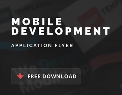 Free Mobile Development Application Flyer
