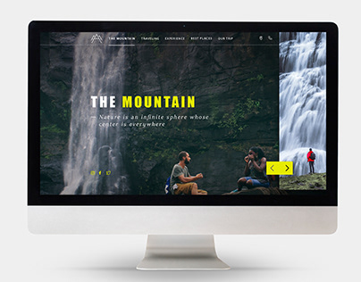 THE MOUNTAIN / Landig page