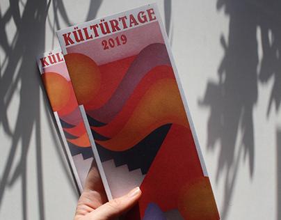 Kültürtage Programm Flyer