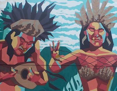 Mural Ukelele y Kai Kai