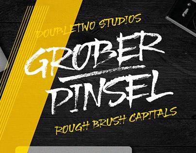 XXII Grober Pinsel - Brush Script - Font