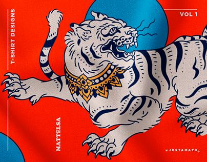 T-shirt designs . MATTELSA Vol 1.